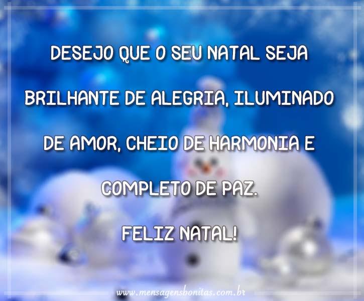 Desejo que o seu Natal