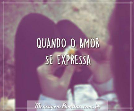 Quando o amor se expressa