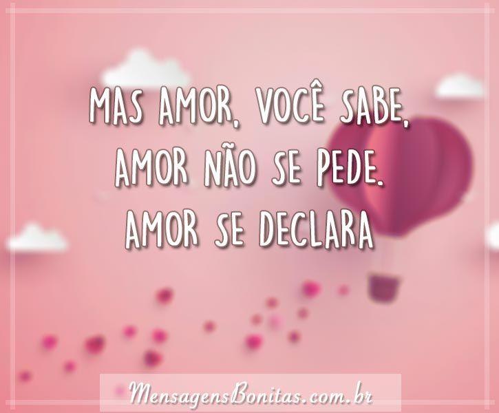 Amor não se pede