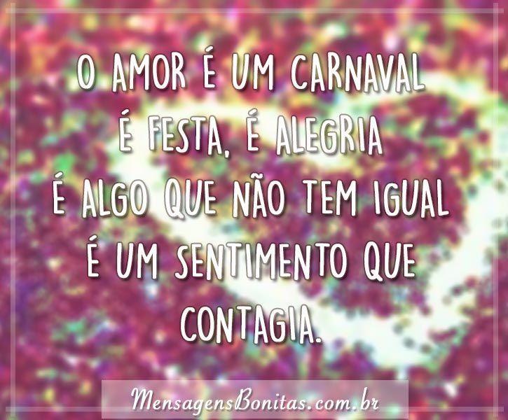 O amor é um carnaval