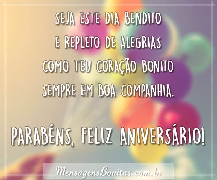 Eu te desejo um feliz aniversário