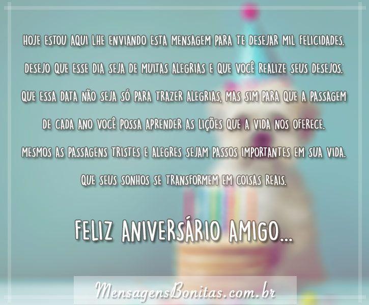 Feliz Aniversário Meu Grande Amigo Mensagens Bonitas Frases De Amor