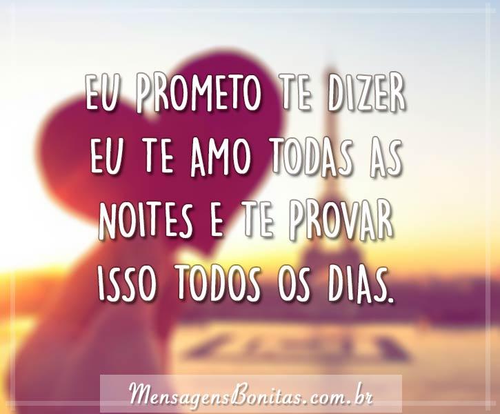 Eu prometo te dizer
