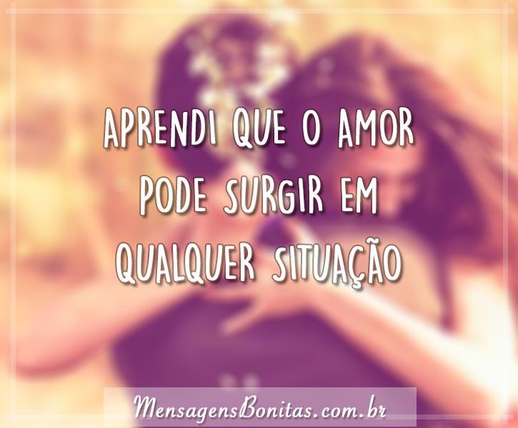 A você… Te amo!