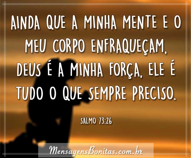 Deus é minha força
