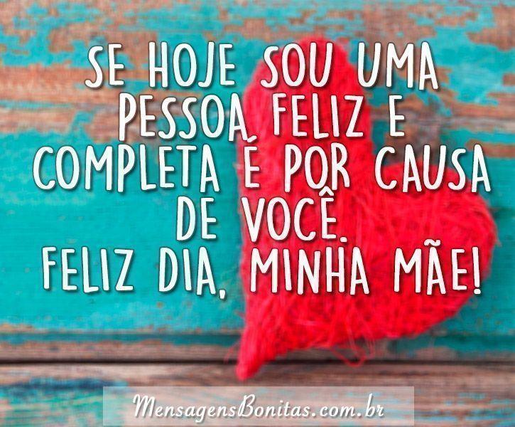 Se hoje sou uma pessoa feliz e  completa é por causa de você