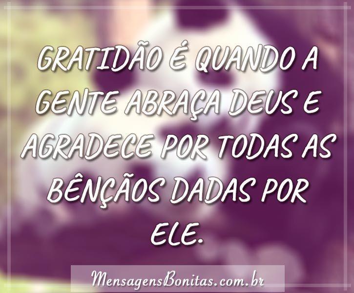 Gratidão é quando
