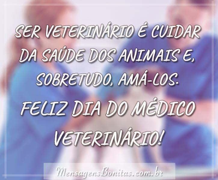Mensagem Dia do Médico Veterinário