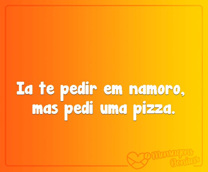 Namoro ou pizza?