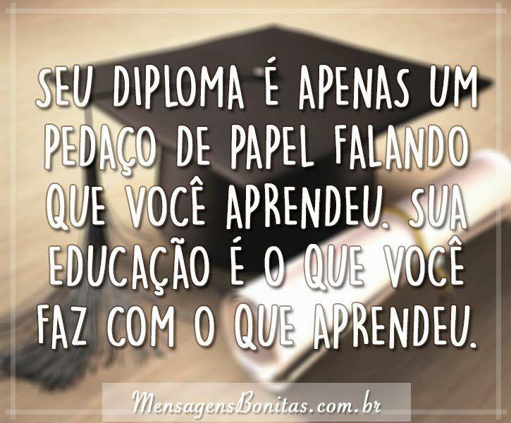 diploma é apenas um pedaço de papel